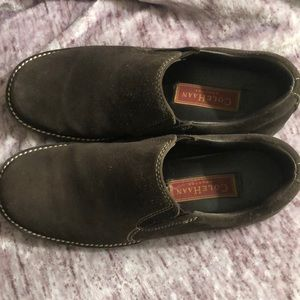 Cole Haan brown suede leather loafers 6.5B